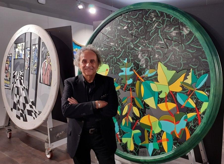 L'Inno alla gioia di Nespolo, cinquanta opere al Palazzo della Banca d'Alba