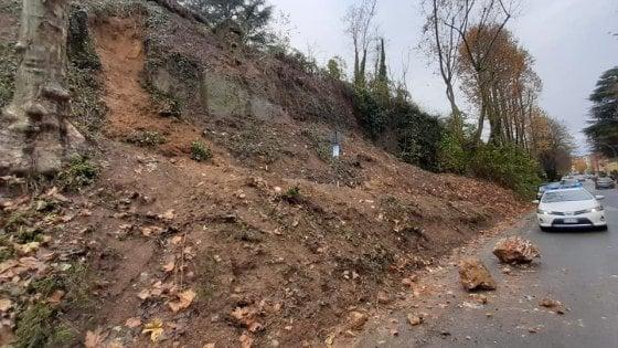 Maltempo in Piemonte; cade un pezzo del castello di Novi, funivia danneggiata ad Oropa