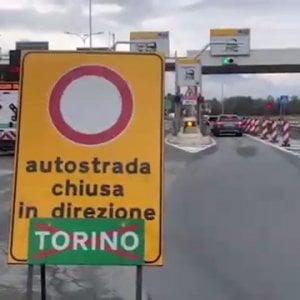 Chiusa l'autostrada Torino-Aosta per il danneggiamento di un viadotto