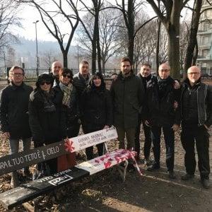 Torino, ricostruita entro marzo la panchina dedicata a Vito Scafidi distrutta dai vandali