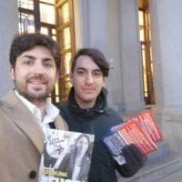 Biella, la Lega distribuisce volantini contro la ministra dell'Istruzione