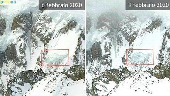Monte Bianco, si staccano 120 mila metri cubi di ghiaccio dal seracco Gendarme Rouge
