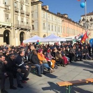Torino, in piazza per due giorni per dare voce al dramma dei metalmeccanici