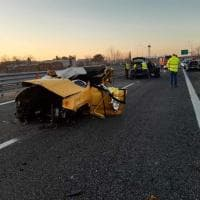 Le drammatiche scene dell'incidente avvenuto all'alba sulla A5