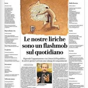 Riaperta la Bottega di poesia di Repubblica Torino, in edicola le prime nove liriche dei lettori