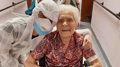"""A 104 anni nonna Ada guarisce dal virus: """"Dopo due guerre ha superato la pandemia"""""""