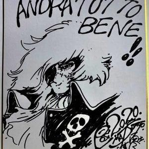 All'asta per settemila euro un disegno di Capitan Harlock donato alle Molinette