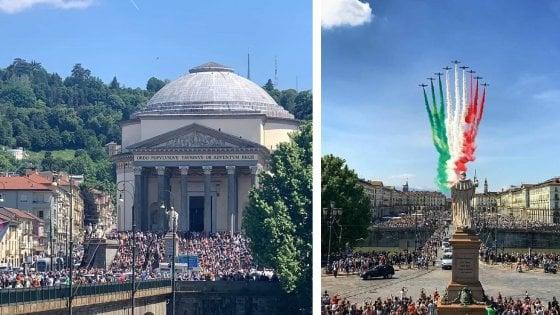 Folla a Torino per le Frecce Tricolori, la sindaca Appendino