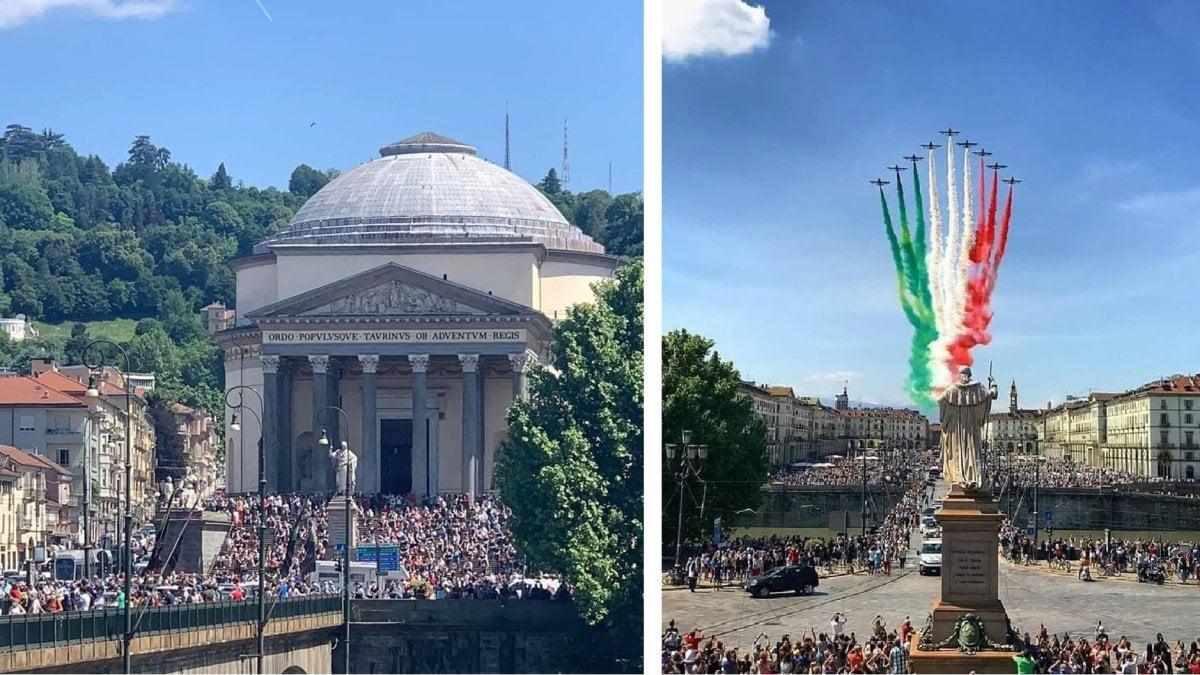 """Folla a Torino per le Frecce Tricolori, la sindaca Appendino delusa: """"Stavolta le cose non hanno funzionato"""""""
