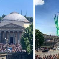 """Folla a Torino per le Frecce Tricolori, la sindaca Appendino delusa: """"Stavolta le cose..."""