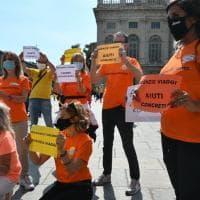 A Torino la protesta degli agenti di viaggio