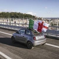 Per la Nuova Fiat 500 elettrica passerella di eccezione sul ponte San Giorgio