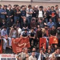 Davanti ai cancelli della Fiat con Berlinguer, il 26 settembre 1980