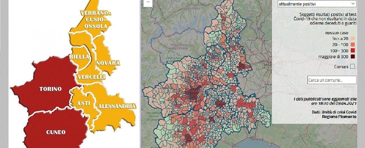 La Cartina Del Piemonte.Niente Zona Arancione Per Le Province Di Torino E Cuneo Resteranno Rosse Il Piemonte Si Scopre Bicolore La Repubblica