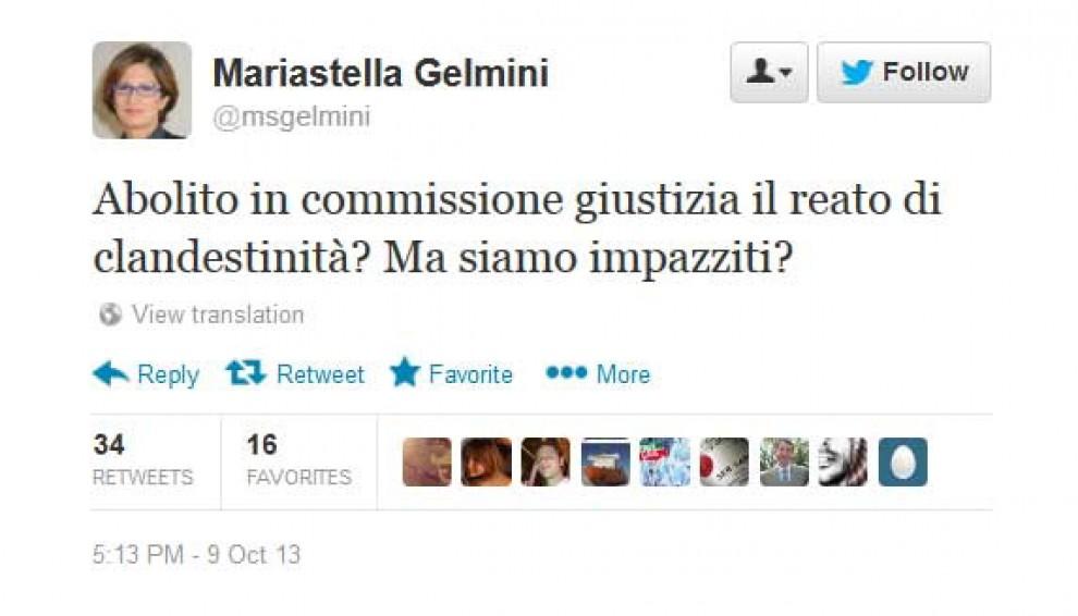 Foto reato di clandestinit gelmini su twitter abolito for Commissione giustizia senato calendario