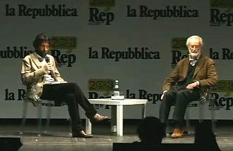 """Scalfari e Cacciari dialogo sulla democrazia """"Non è solo  questione di voto"""""""