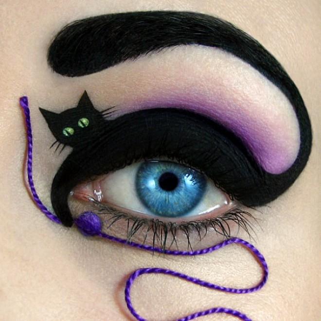 Foto Make-up d'artista: la palpebra si trasforma in tela ...