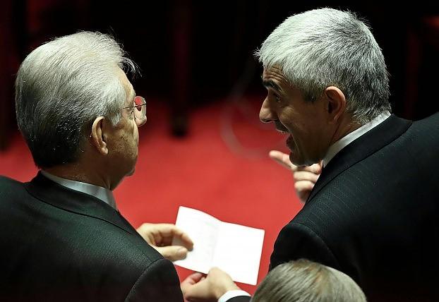 """Monti: """"Governo Letta inginocchiato al Pdl. Mauro e Casini verso Berlusconi"""""""