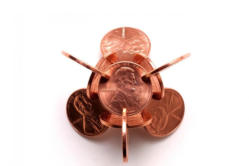 L'arte con il denaro, le sculture fatte di monete