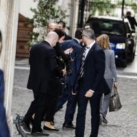I ministri lasciano Palazzo Grazioli