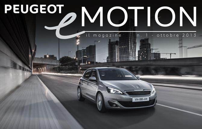 Peugeot eMOTION, il magazine nel tablet