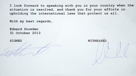 """""""Avevo il dovere morale di agire"""": la lettera di Snowden"""