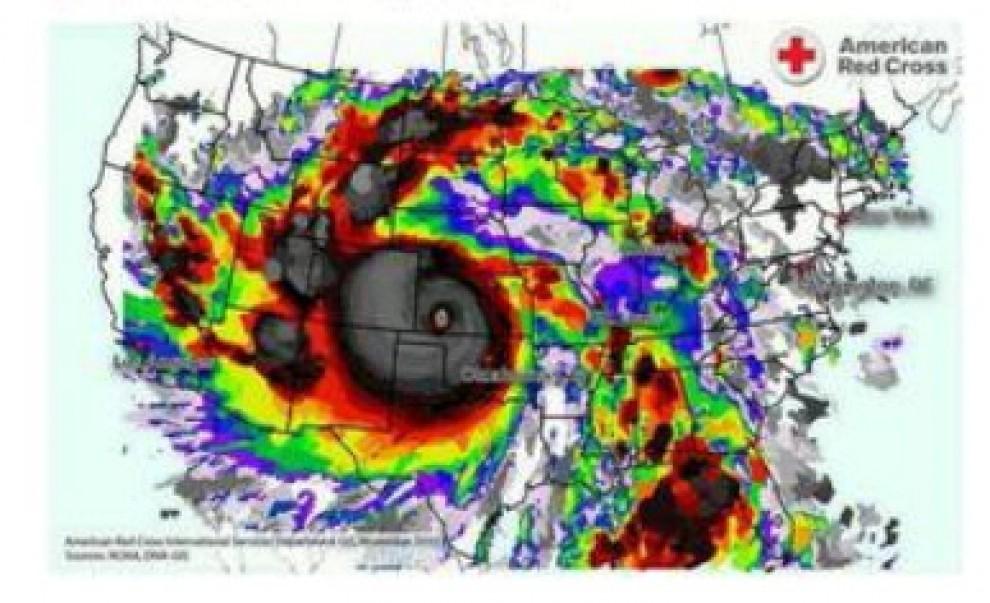 """Supertifone Hayan, la mappa della Croce Rossa: """"Colpita area grande come Usa"""""""