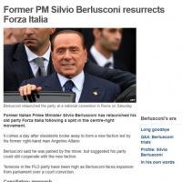 Scissione Pdl, la notizia sui siti stranieri