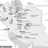 La mappa dei siti nucleari iraniani