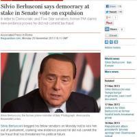 Berlusconi contro la decadenza: la notizia sui siti stranieri
