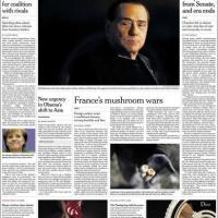 Decadenza Berlusconi, le prime pagine dal mondo