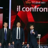 Primare PD, il confronto tv: Renzi, Cuperlo e Civati in studio