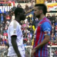 """Catania-Milan, Balotelli contro Spolli<br />""""Mi ha detto negro di m..."""""""