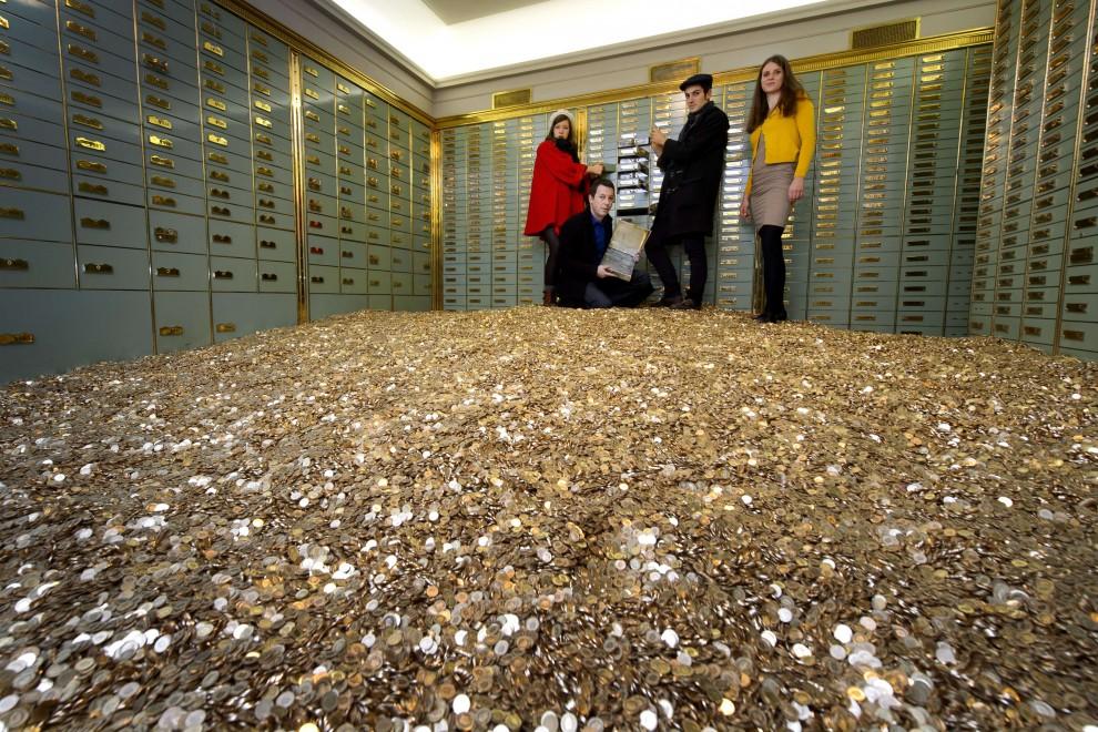 Il caveau di Paperon de' Paperoni: 15 tonnellate di monetine