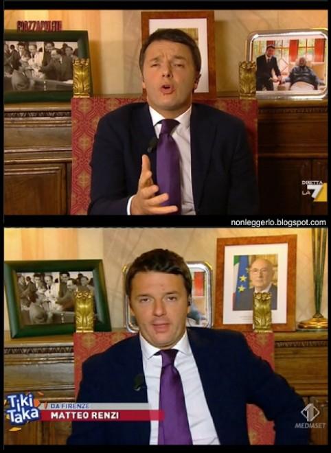 Renzi in tv, scambiate le foto ricordo nel suo ufficio