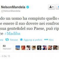 #Mandela, il cordoglio su Twitter