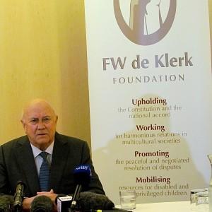 "De Klerk: ""Quando Mandela<br />mi parlava in afrikaner"""