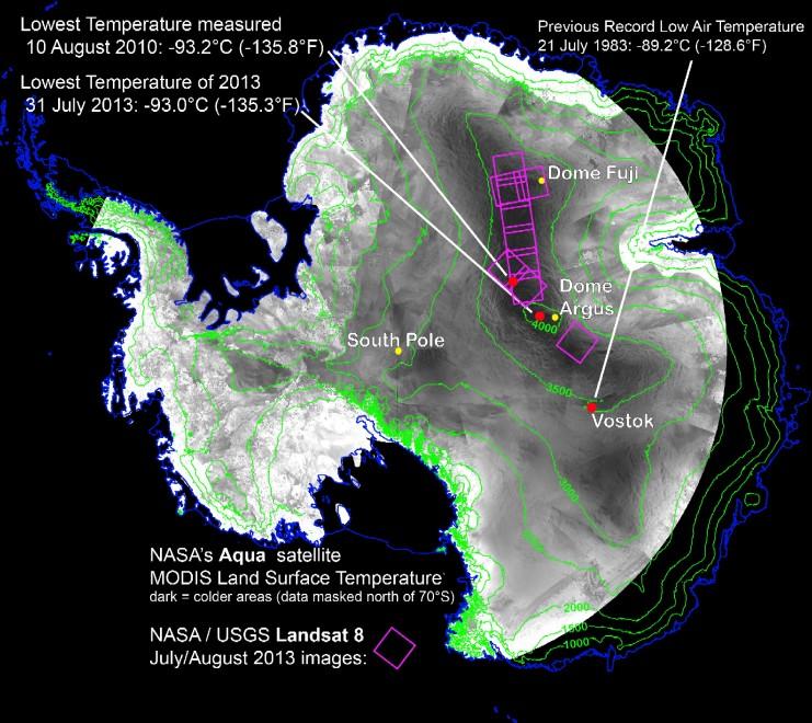 Antartide, temperatura record: 93,2 gradi sotto zero