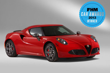 "Regno Unito: Alfa Romeo 4C è ""Car of the Year 2013"""