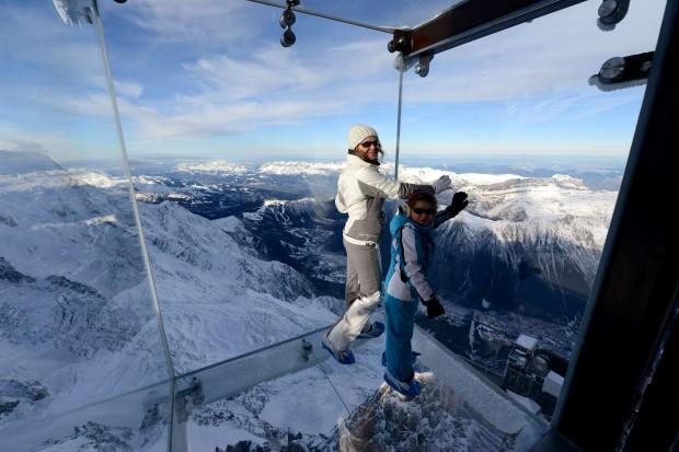 Monte Bianco  Il salto nel vuoto dell'Aiguille du Midi