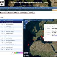 La mappa dei terremoti nelle ultime 48 ore nel Mediterraneo