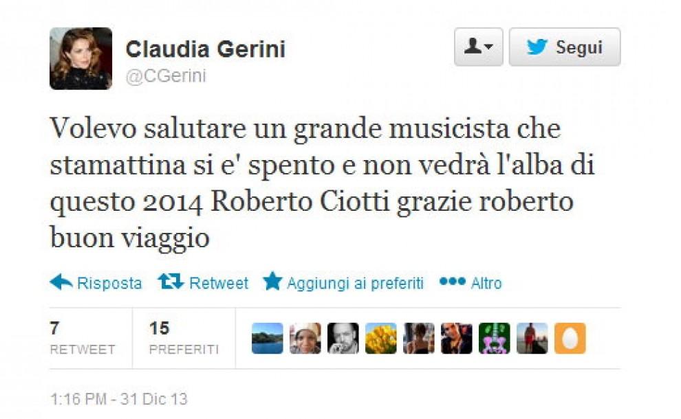 Addio a Roberto Ciotti, il saluto di fans e colleghi su Twitter