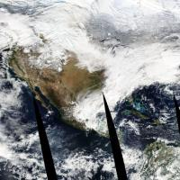 Usa, la supertempesta vista dal satellite