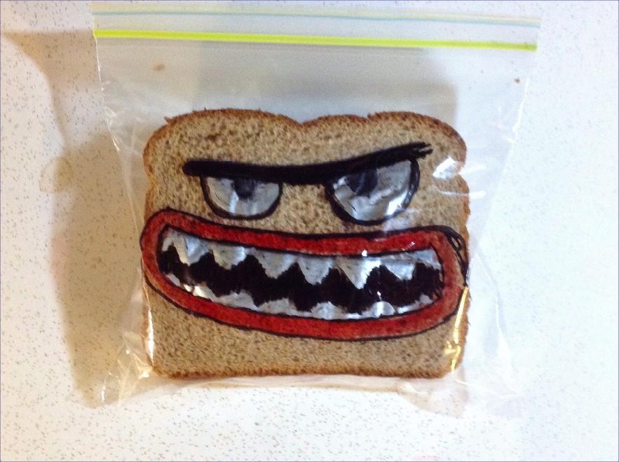 Usa, panini con i mostri: il pranzo è disegnato da papà