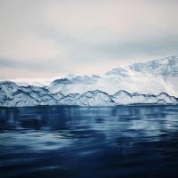 Onde e ghiacci a pastello, il realismo di Zaria Forman