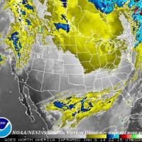 Freddo record negli Usa: le immagini dal satellite