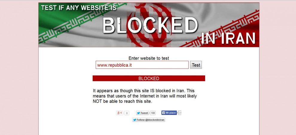 Censura in iran oscurato il sito for Sito la repubblica