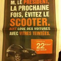 Hollande diventa uno spot: ''Presidente affitti un'auto con i vetri scuri''