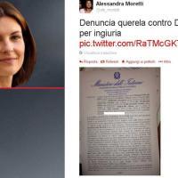 Insulti sessisti M5s, Alessandra Moretti posta la denuncia su Twitter