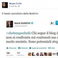 """Boldrini-Messora, il giallo del tweet. Lo staff della Presidente: """"E' un falso"""""""